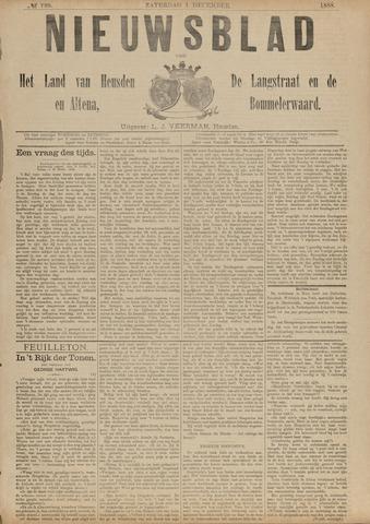 Nieuwsblad het land van Heusden en Altena de Langstraat en de Bommelerwaard 1888-12-01