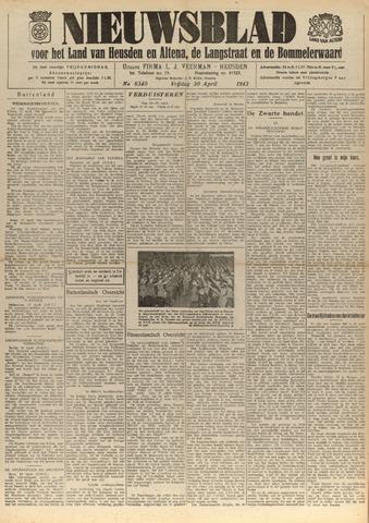 Nieuwsblad het land van Heusden en Altena de Langstraat en de Bommelerwaard 1943-04-30