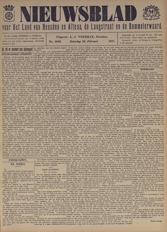 Nieuwsblad het land van Heusden en Altena de Langstraat en de Bommelerwaard 1917-02-24