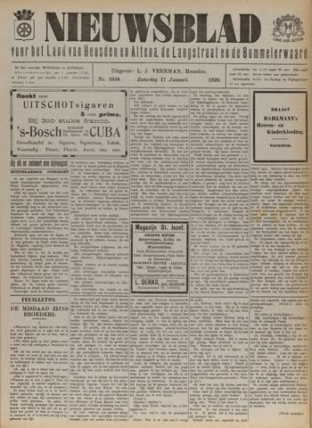 Nieuwsblad het land van Heusden en Altena de Langstraat en de Bommelerwaard 1920-01-17