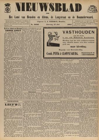 Nieuwsblad het land van Heusden en Altena de Langstraat en de Bommelerwaard 1915-07-17