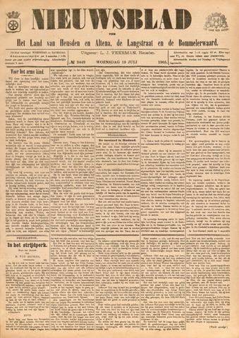 Nieuwsblad het land van Heusden en Altena de Langstraat en de Bommelerwaard 1905-07-19