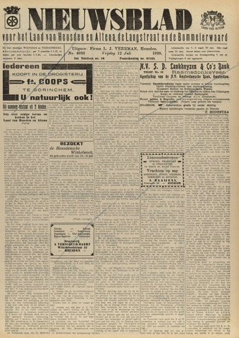 Nieuwsblad het land van Heusden en Altena de Langstraat en de Bommelerwaard 1929-07-12