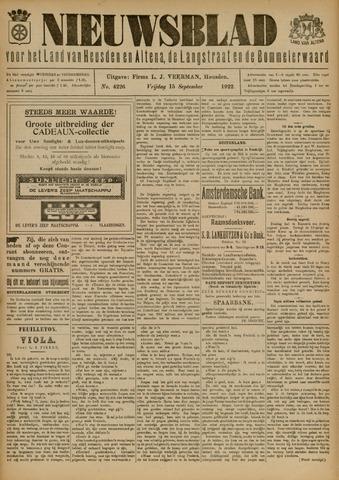 Nieuwsblad het land van Heusden en Altena de Langstraat en de Bommelerwaard 1922-09-15