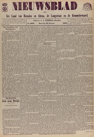 Nieuwsblad het land van Heusden en Altena de Langstraat en de Bommelerwaard 1910-01-22