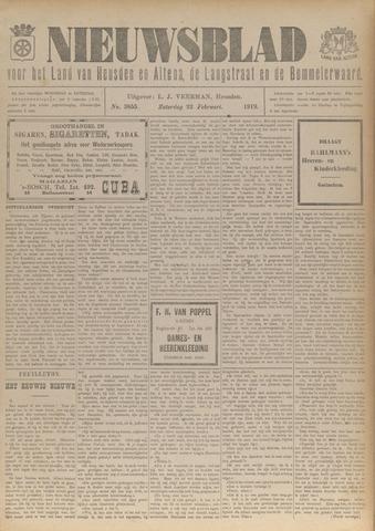 Nieuwsblad het land van Heusden en Altena de Langstraat en de Bommelerwaard 1919-02-22