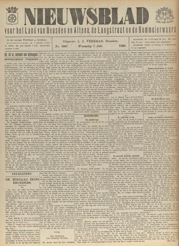 Nieuwsblad het land van Heusden en Altena de Langstraat en de Bommelerwaard 1920-07-07