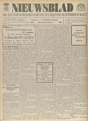 Nieuwsblad het land van Heusden en Altena de Langstraat en de Bommelerwaard 1920-02-28