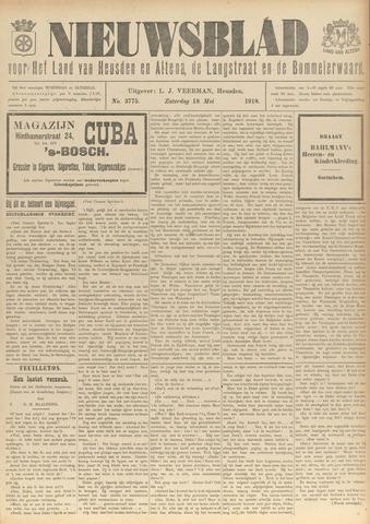 Nieuwsblad het land van Heusden en Altena de Langstraat en de Bommelerwaard 1918-05-18