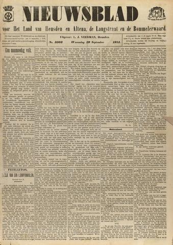 Nieuwsblad het land van Heusden en Altena de Langstraat en de Bommelerwaard 1915-09-29