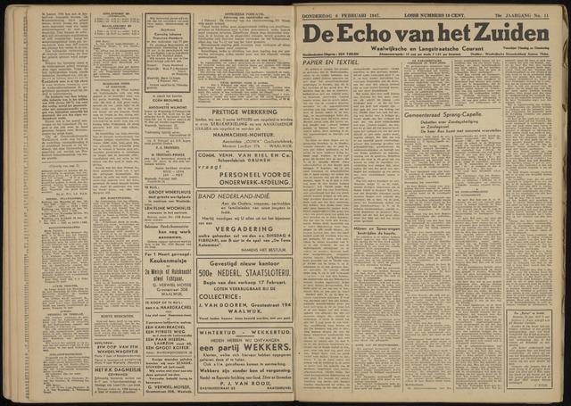 Echo van het Zuiden 1947-02-06