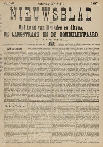 Nieuwsblad het land van Heusden en Altena de Langstraat en de Bommelerwaard 1887-04-30