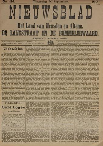 Nieuwsblad het land van Heusden en Altena de Langstraat en de Bommelerwaard 1885-09-30