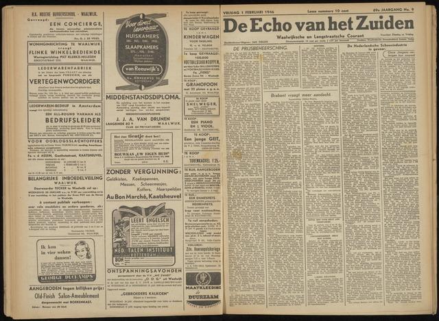 Echo van het Zuiden 1946-02-01