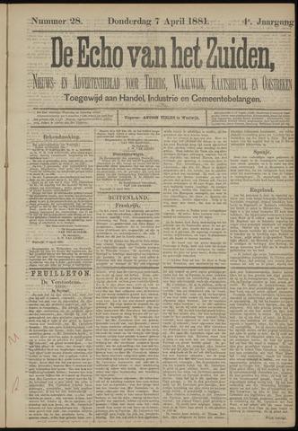 Echo van het Zuiden 1881-04-07