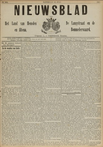 Nieuwsblad het land van Heusden en Altena de Langstraat en de Bommelerwaard 1890-07-12