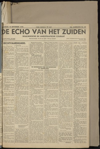 Echo van het Zuiden 1945-09-10