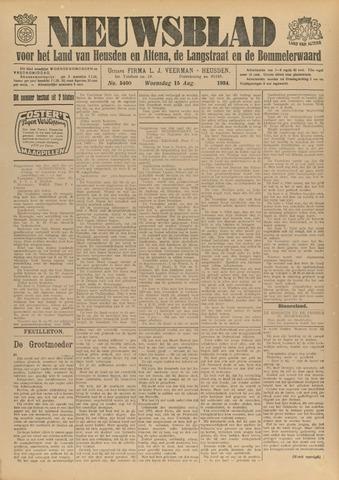 Nieuwsblad het land van Heusden en Altena de Langstraat en de Bommelerwaard 1934-08-15