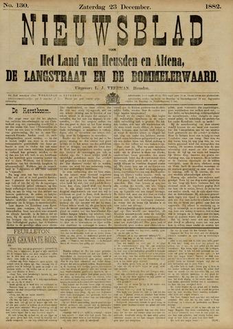 Nieuwsblad het land van Heusden en Altena de Langstraat en de Bommelerwaard 1882-12-23
