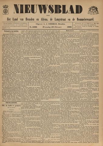 Nieuwsblad het land van Heusden en Altena de Langstraat en de Bommelerwaard 1906-02-28