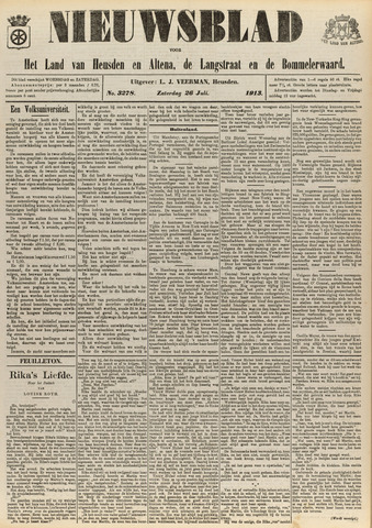 Nieuwsblad het land van Heusden en Altena de Langstraat en de Bommelerwaard 1913-07-26