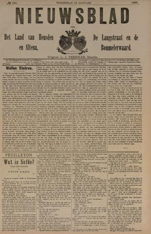 Nieuwsblad het land van Heusden en Altena de Langstraat en de Bommelerwaard 1888-01-18