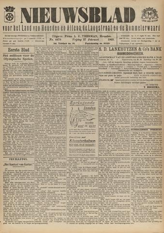 Nieuwsblad het land van Heusden en Altena de Langstraat en de Bommelerwaard 1925-02-27