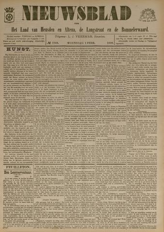 Nieuwsblad het land van Heusden en Altena de Langstraat en de Bommelerwaard 1899-02-01