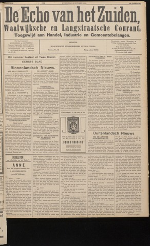 Echo van het Zuiden 1937-10-20