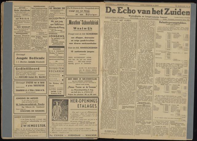 Echo van het Zuiden 1947-08-07