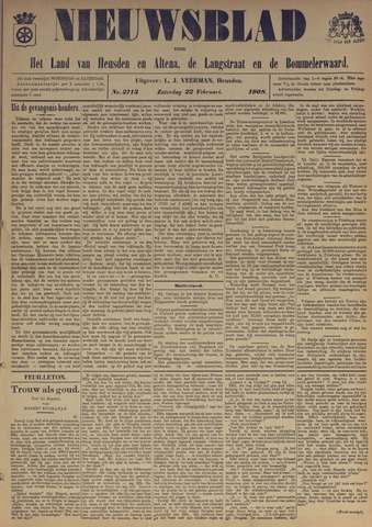 Nieuwsblad het land van Heusden en Altena de Langstraat en de Bommelerwaard 1908-02-22