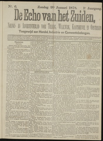 Echo van het Zuiden 1878-01-20