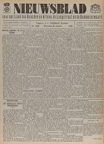 Nieuwsblad het land van Heusden en Altena de Langstraat en de Bommelerwaard 1920-01-21