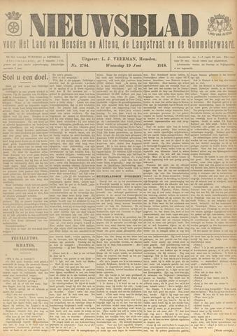 Nieuwsblad het land van Heusden en Altena de Langstraat en de Bommelerwaard 1918-06-19