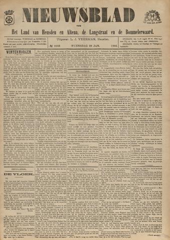 Nieuwsblad het land van Heusden en Altena de Langstraat en de Bommelerwaard 1903-01-28