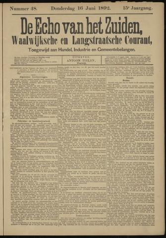 Echo van het Zuiden 1892-06-16