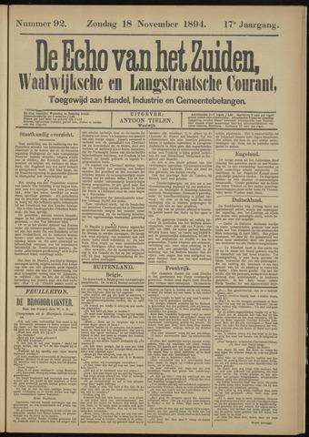 Echo van het Zuiden 1894-11-18