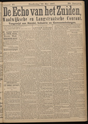 Echo van het Zuiden 1907-05-30