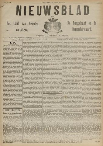 Nieuwsblad het land van Heusden en Altena de Langstraat en de Bommelerwaard 1891-10-28