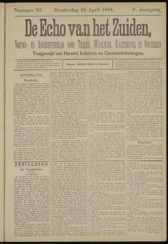Echo van het Zuiden 1881-04-21