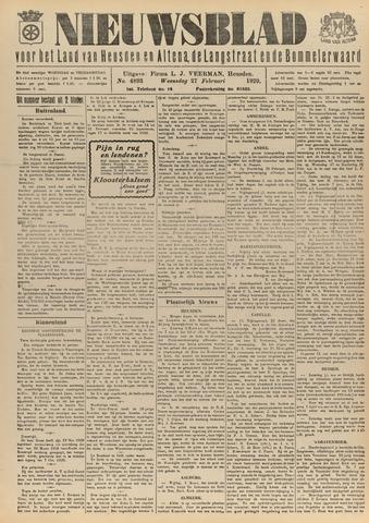 Nieuwsblad het land van Heusden en Altena de Langstraat en de Bommelerwaard 1929-02-27