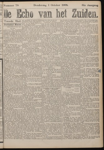Echo van het Zuiden 1908-10-01