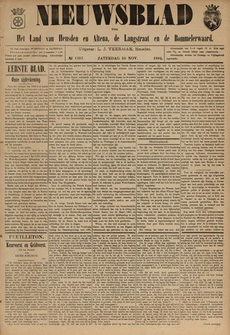 Nieuwsblad het land van Heusden en Altena de Langstraat en de Bommelerwaard 1894-11-10