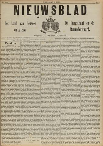 Nieuwsblad het land van Heusden en Altena de Langstraat en de Bommelerwaard 1890-07-09