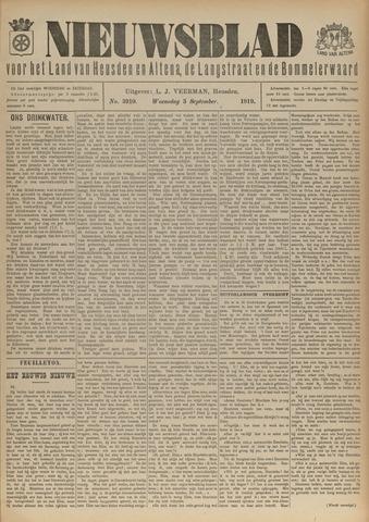 Nieuwsblad het land van Heusden en Altena de Langstraat en de Bommelerwaard 1919-09-03