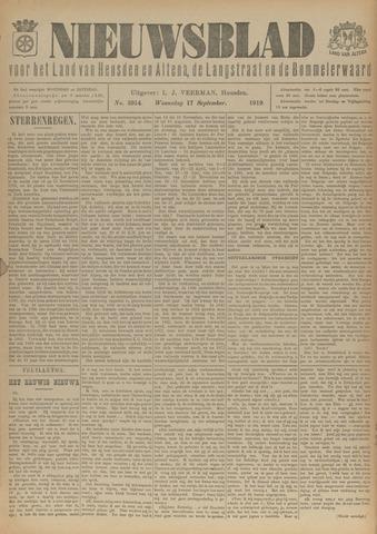 Nieuwsblad het land van Heusden en Altena de Langstraat en de Bommelerwaard 1919-09-17