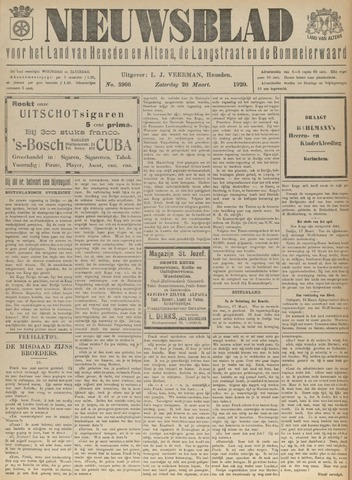 Nieuwsblad het land van Heusden en Altena de Langstraat en de Bommelerwaard 1920-03-20