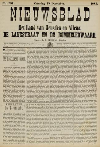 Nieuwsblad het land van Heusden en Altena de Langstraat en de Bommelerwaard 1883-12-15