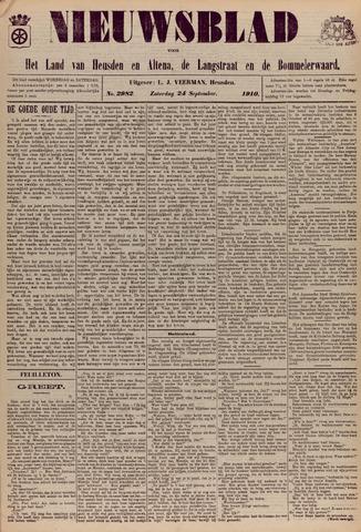 Nieuwsblad het land van Heusden en Altena de Langstraat en de Bommelerwaard 1910-09-24
