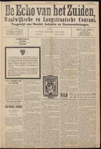 Echo van het Zuiden 1934-07-07